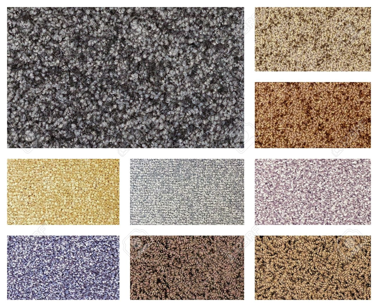 Color Variations Of Different Types Of Carpets And Floor Coverings ...
