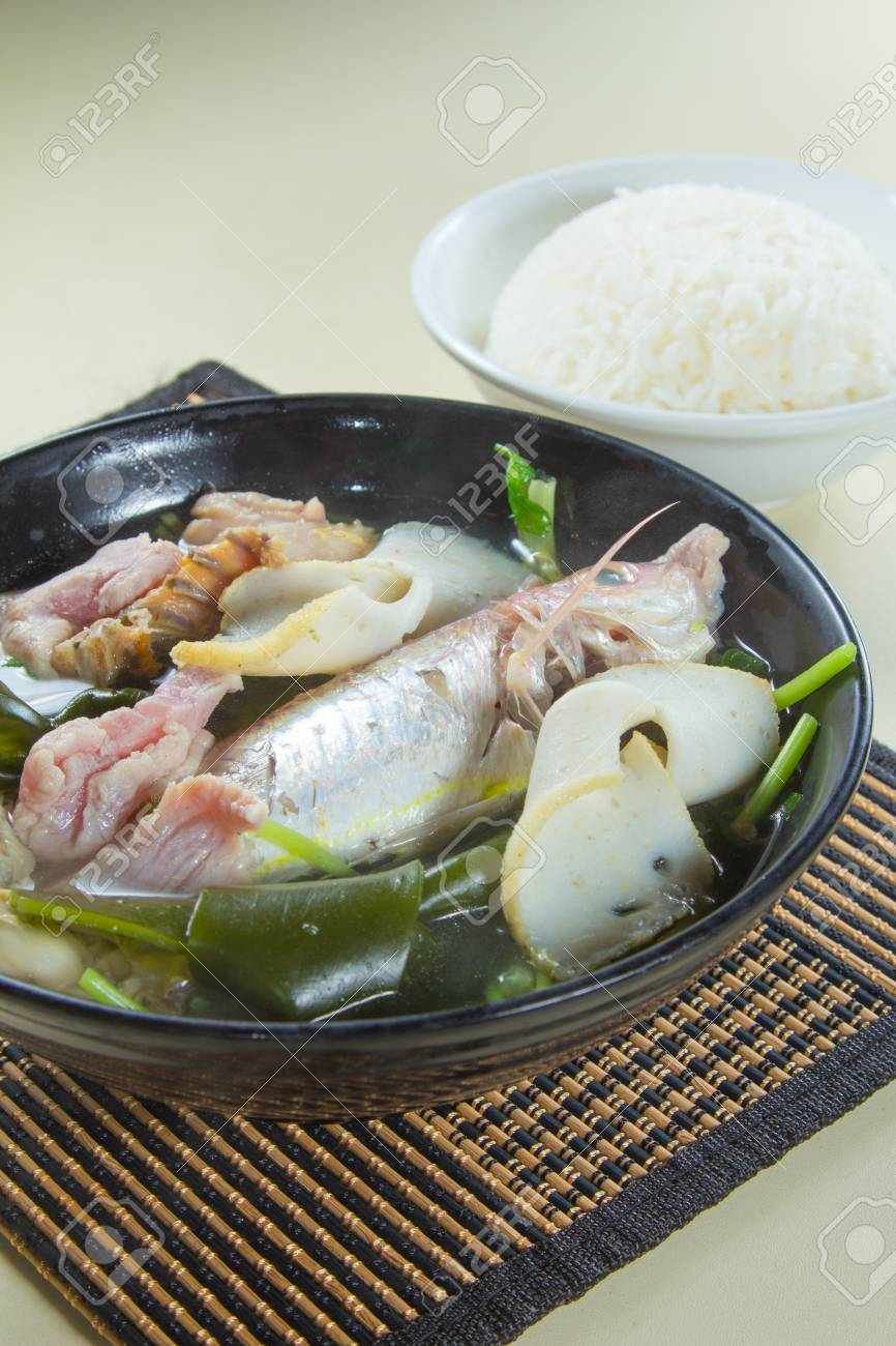 Fish Soup With Rice Stock Photo Picture And Royalty Free Image Image 68825470