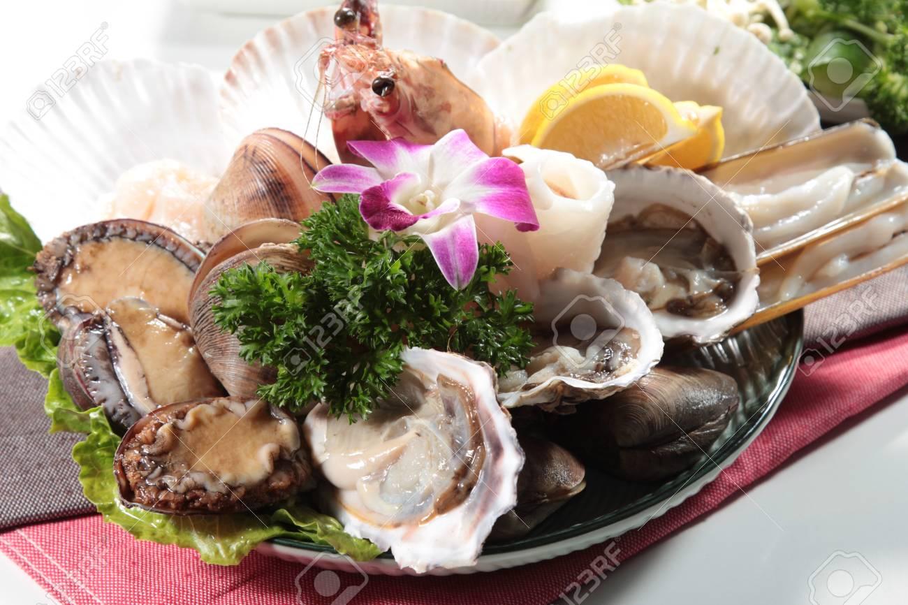 Una Foto Della Cucina Della Cucina Di Mare Foto Royalty Free ...