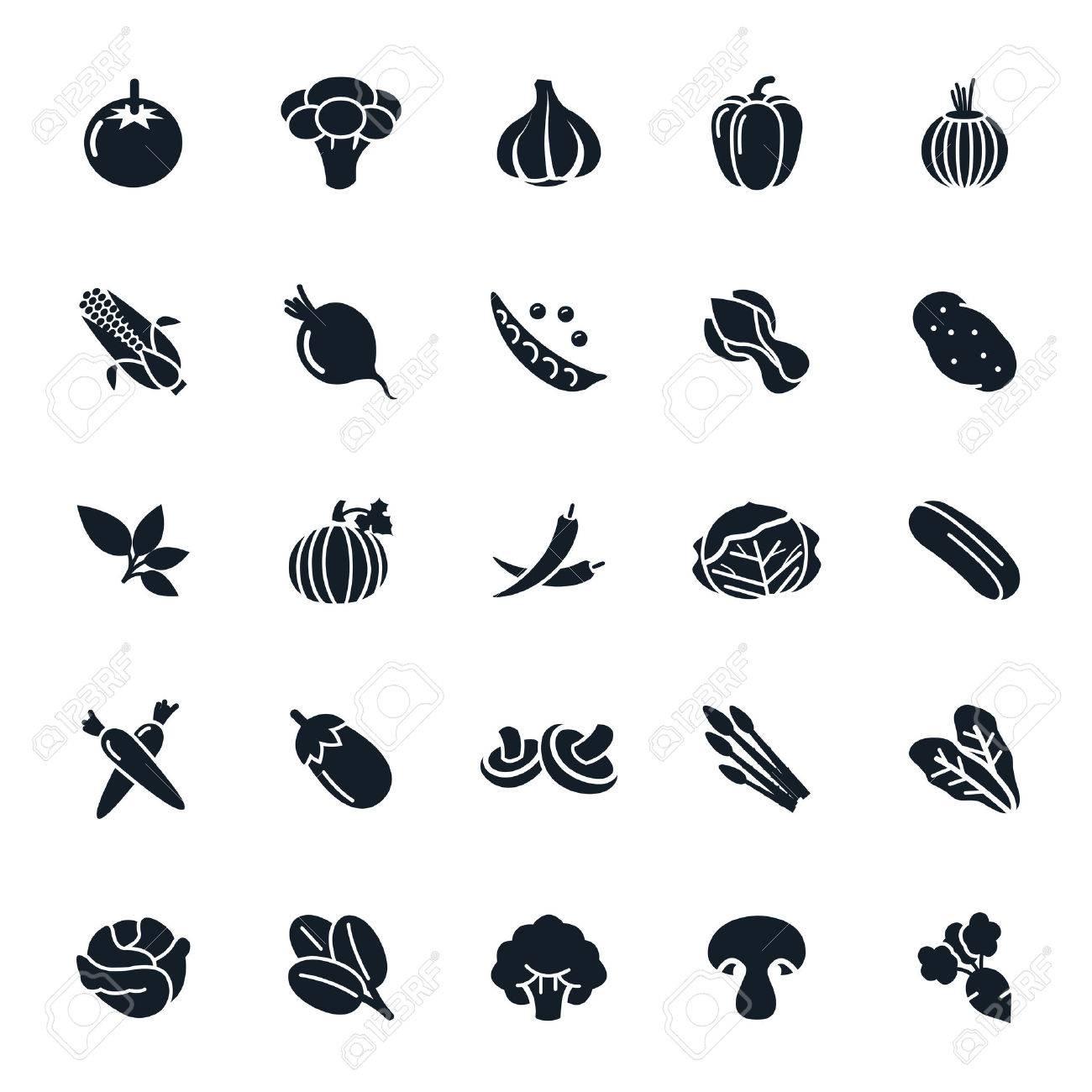 Vegetable icon on White Background illustration - 37919196