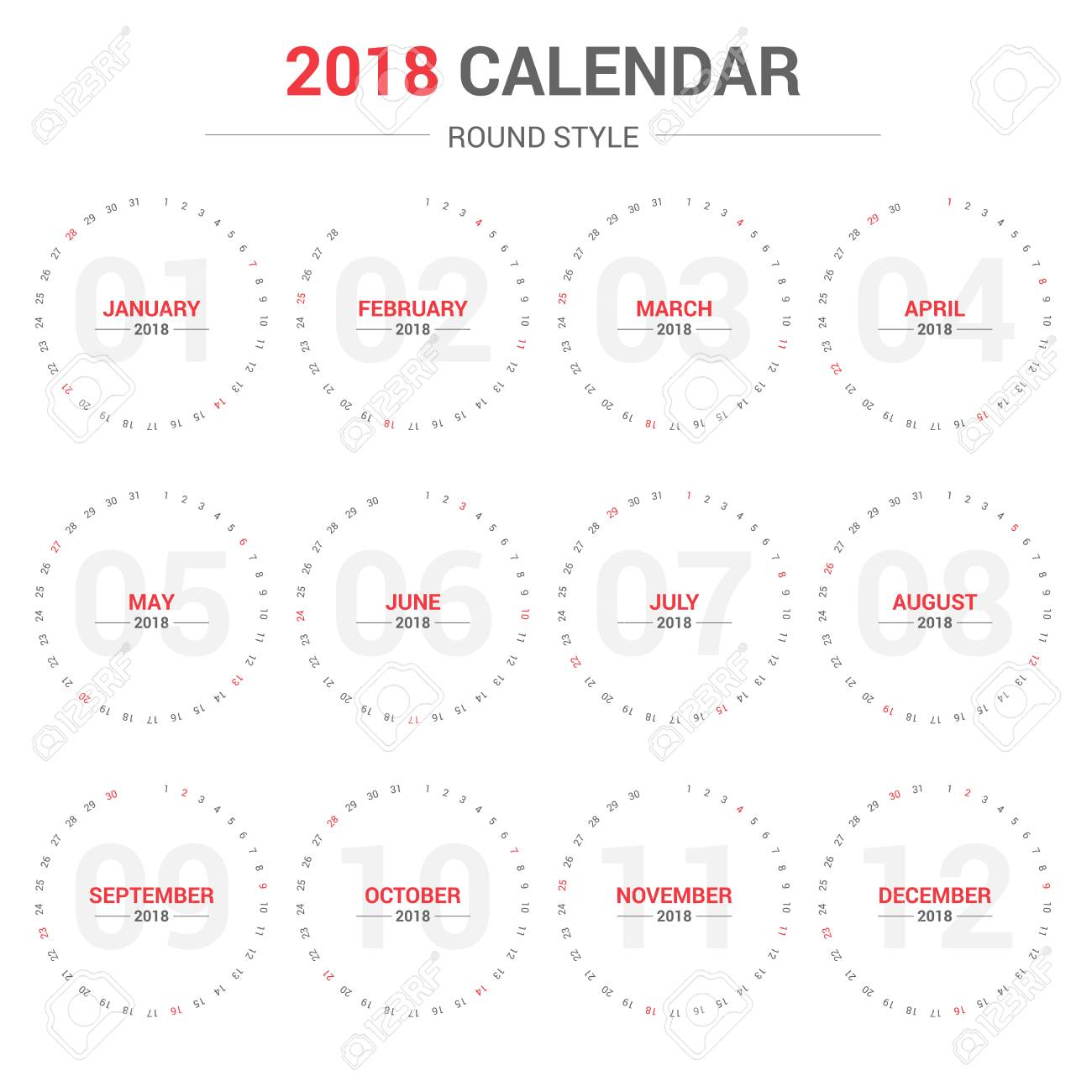 yearly calendar planner template