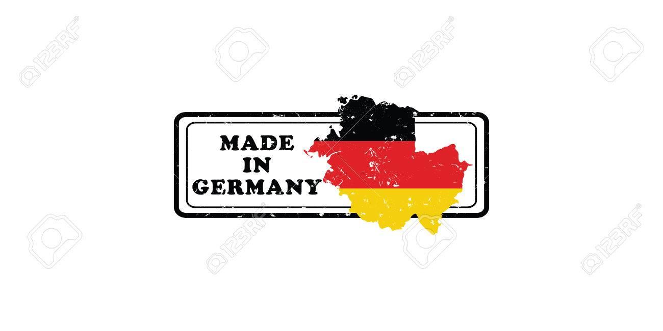 Carte Allemagne Imprimer.Made In Germany Grunge Imprimer Tampon Etiquette Avec Le Drapeau National Allemand Et La Carte De L Allemagne Couleurs D Impression Utilisees