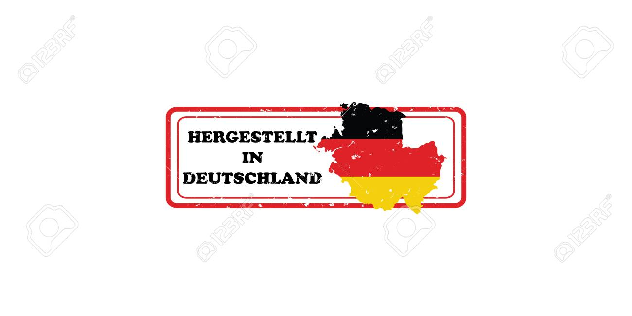 graphic relating to Printable German Flag known as Built within just Germany (Words within German language: Hergestellt in just Deutchland)