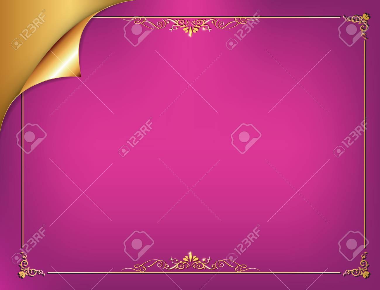 Golden Purple Elegant Background For Any Occasion Birthdays Wedding Invitations Celebration Postcards