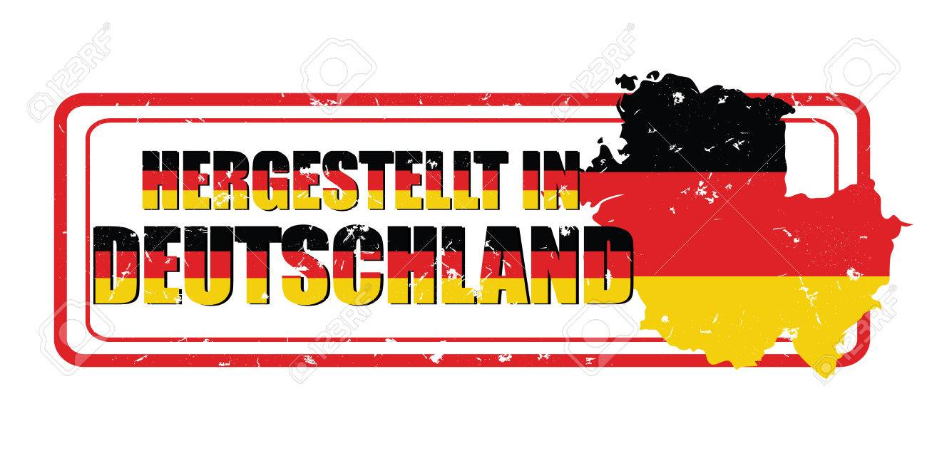 image relating to Printable German Flag titled Developed within just Germany (German language: Hergestellt within just Deutchland)..