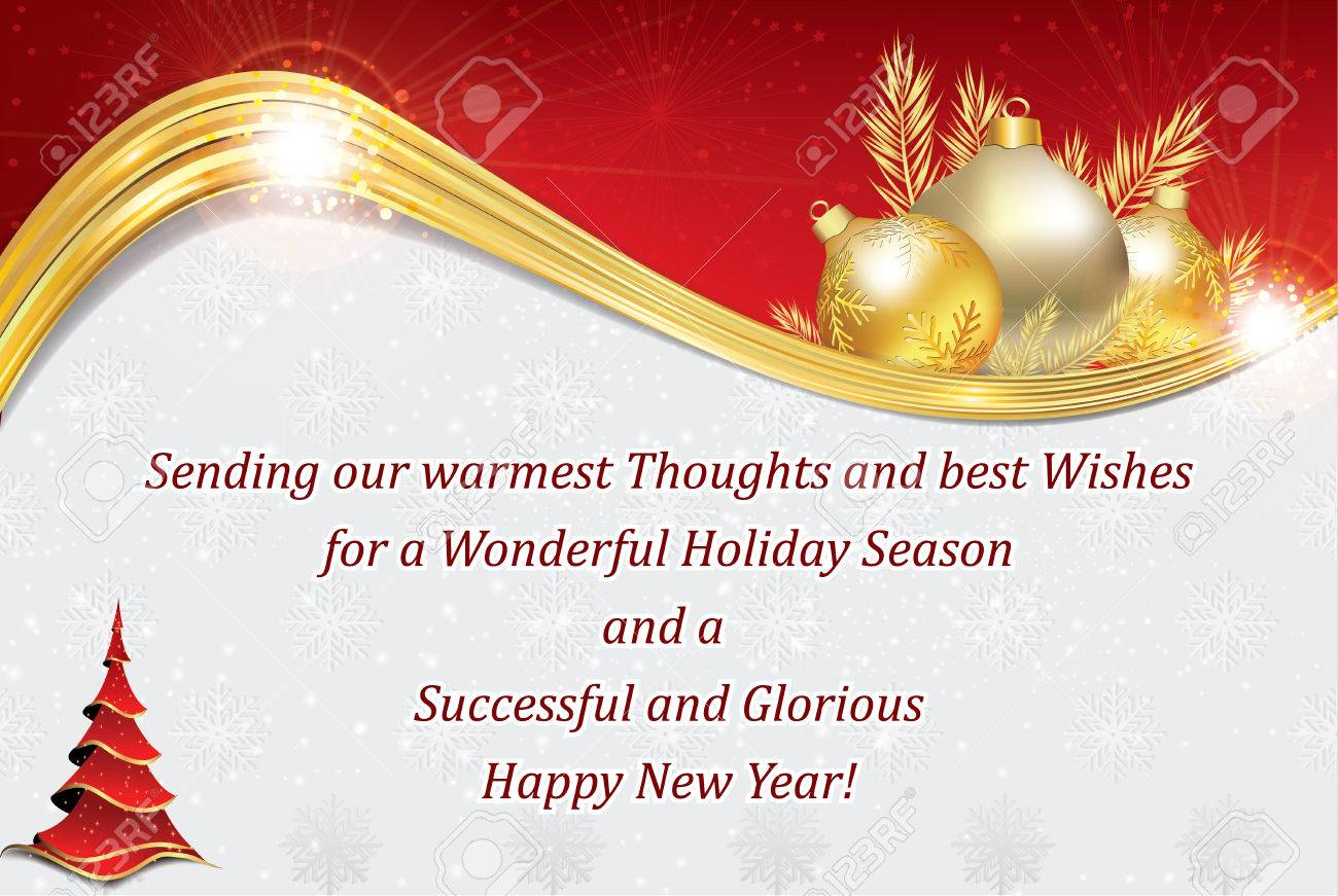 business new year greeting card for customers clients business partners and employees copy