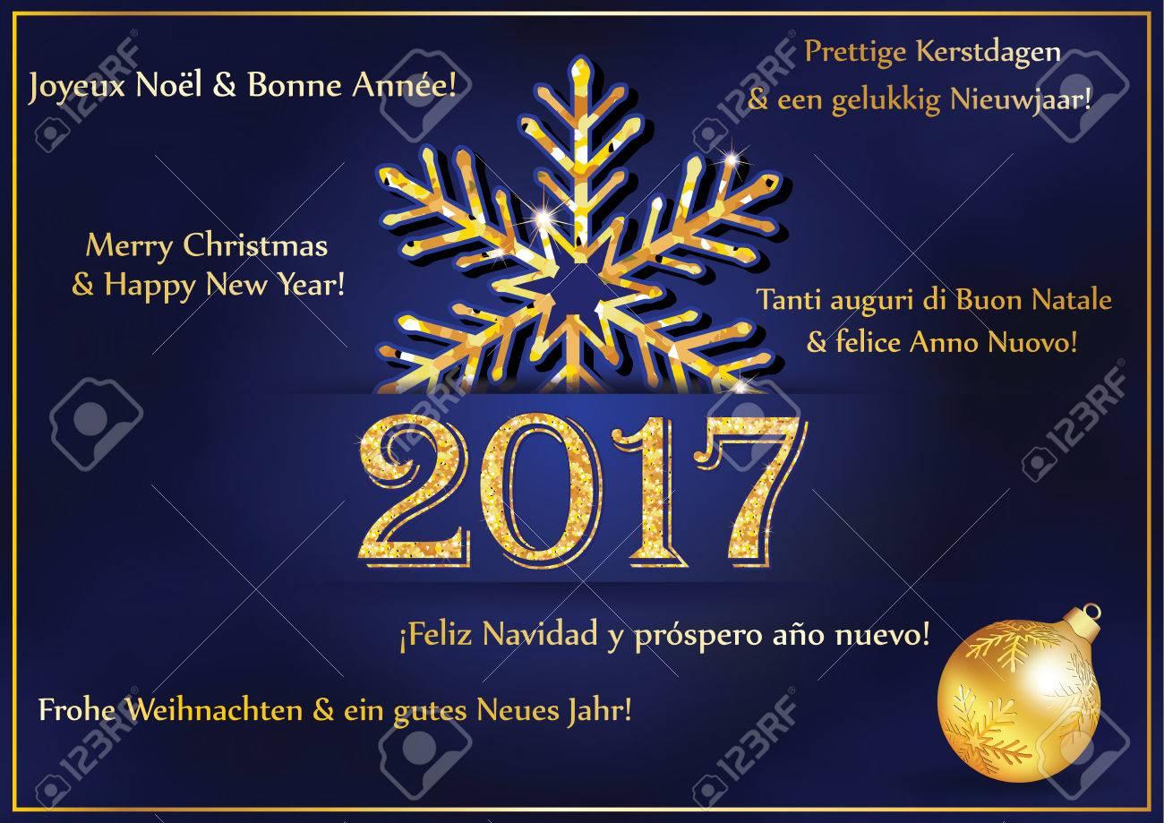 Carte Bonne Fete En Italien.Nouvel An Carte De Voeux 2017 Dans De Nombreuses Langues La