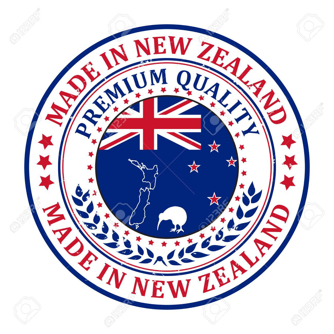 Made in New Zealand, Premium quality - stamp / label / sticker