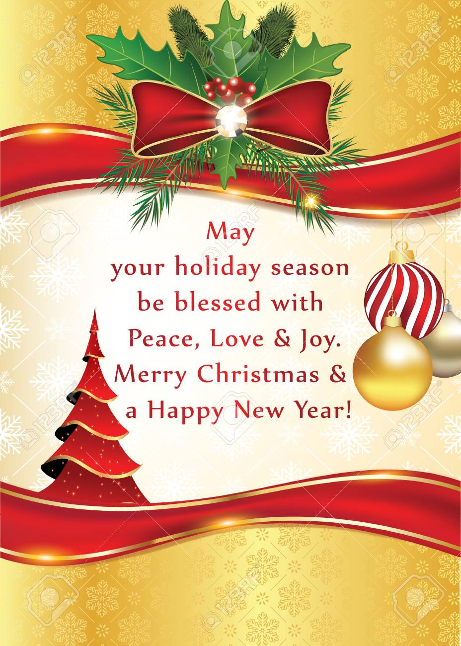 Elegant Winter Season Greeting Card For Print For Christmas And ...