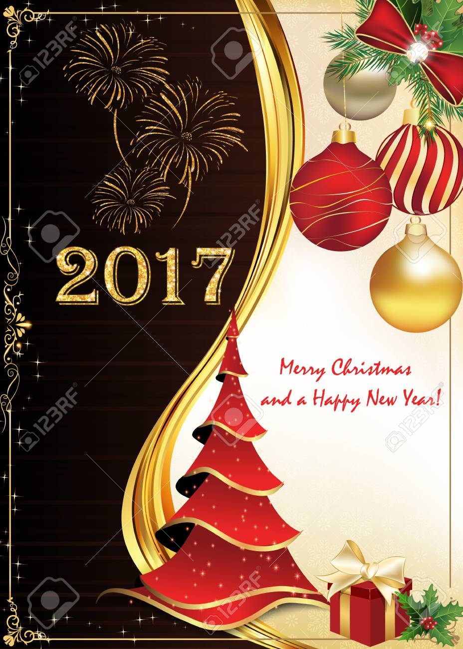 Greeting card for christmas and new year 2017 print colors used greeting card for christmas and new year 2017 print colors used custom size of m4hsunfo