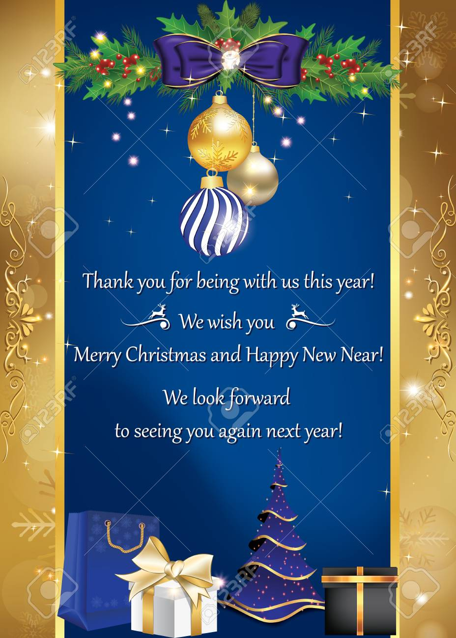 Business card for winter holidays thank you for being with us business card for winter holidays thank you for being with us this year merry colourmoves