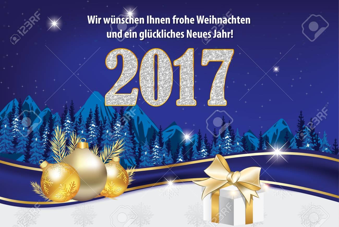 Stock Photo   We Wish You Merry Christmas And Happy New Year   German  Language: Wir Wunschen Ihnen Frohe Weihnachten Und Ein Gluckliches Neues  Jahr ...