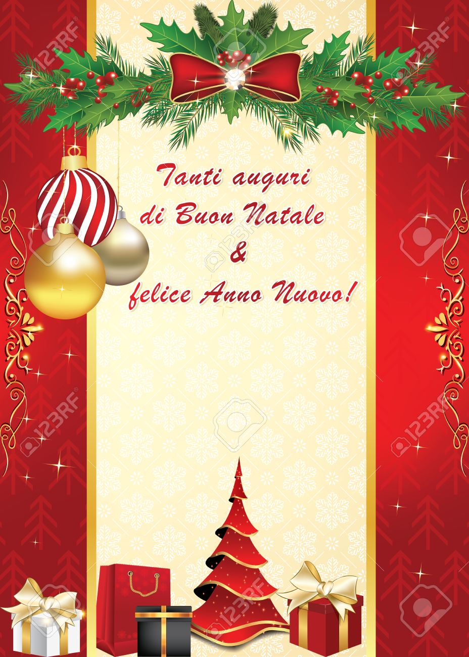 Buon Natale Immagini Auguri.We Wish You Merry Christmas And Happy New Year Italian Language