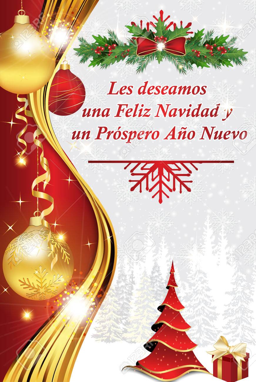 Corporate winter holiday greeting card in spanish language we corporate winter holiday greeting card in spanish language we wish you merry christmas and a m4hsunfo