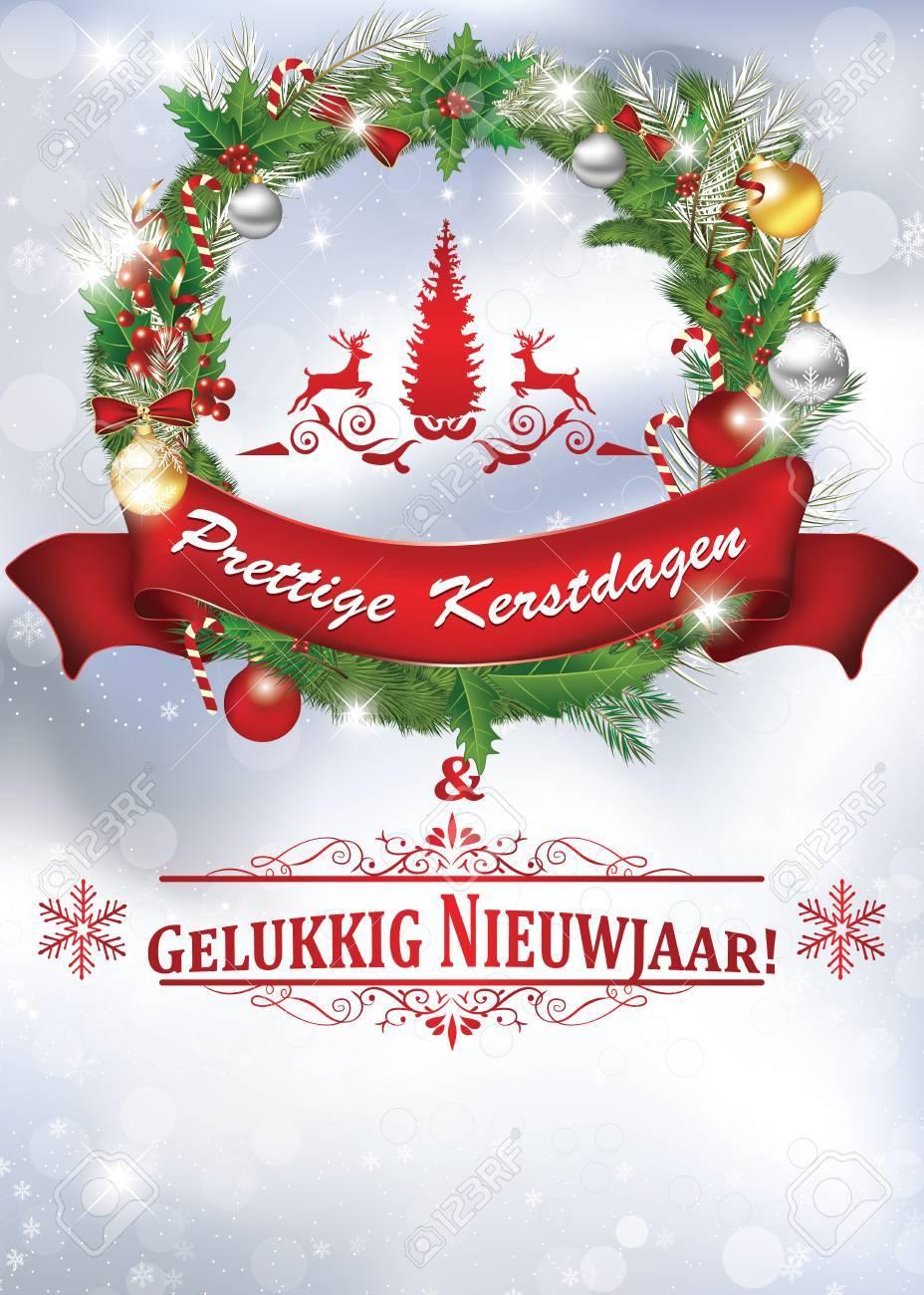 Merry Christmas In Dutch.Merry Christmas And Happy New Year Dutch Language Fijne Kerstdagen