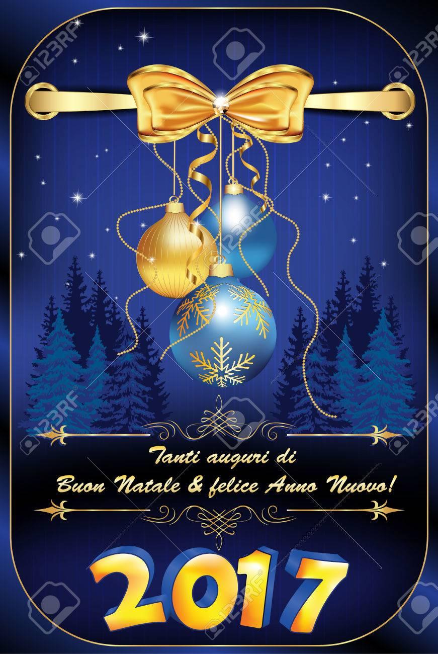 Auguri Di Buon Natale We Wish You A Merry Christmas.We Wish You Merry Christmas And Happy New Year Italian Language
