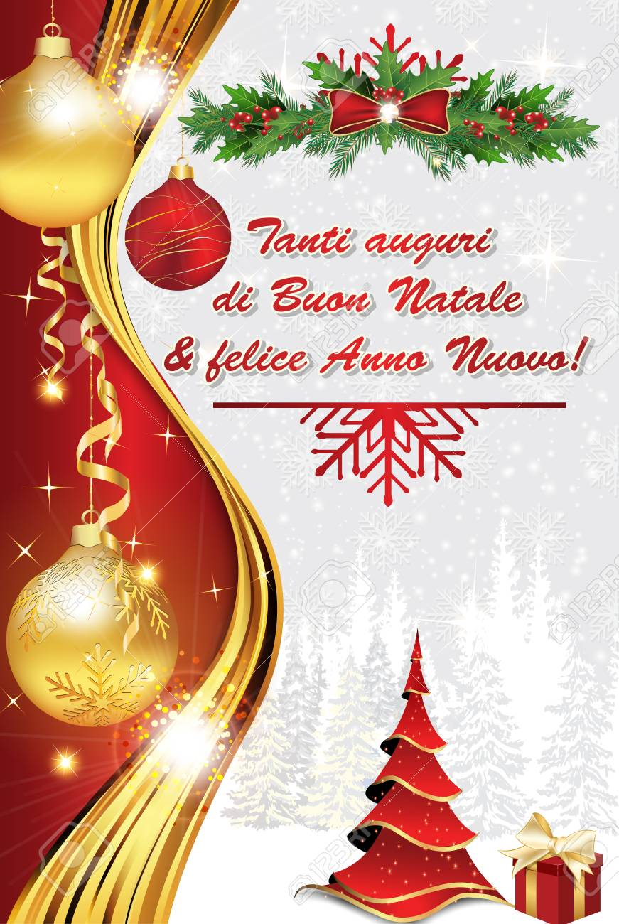 Merry Christmas In Italian.We Wish You Merry Christmas And Happy New Year Italian Language