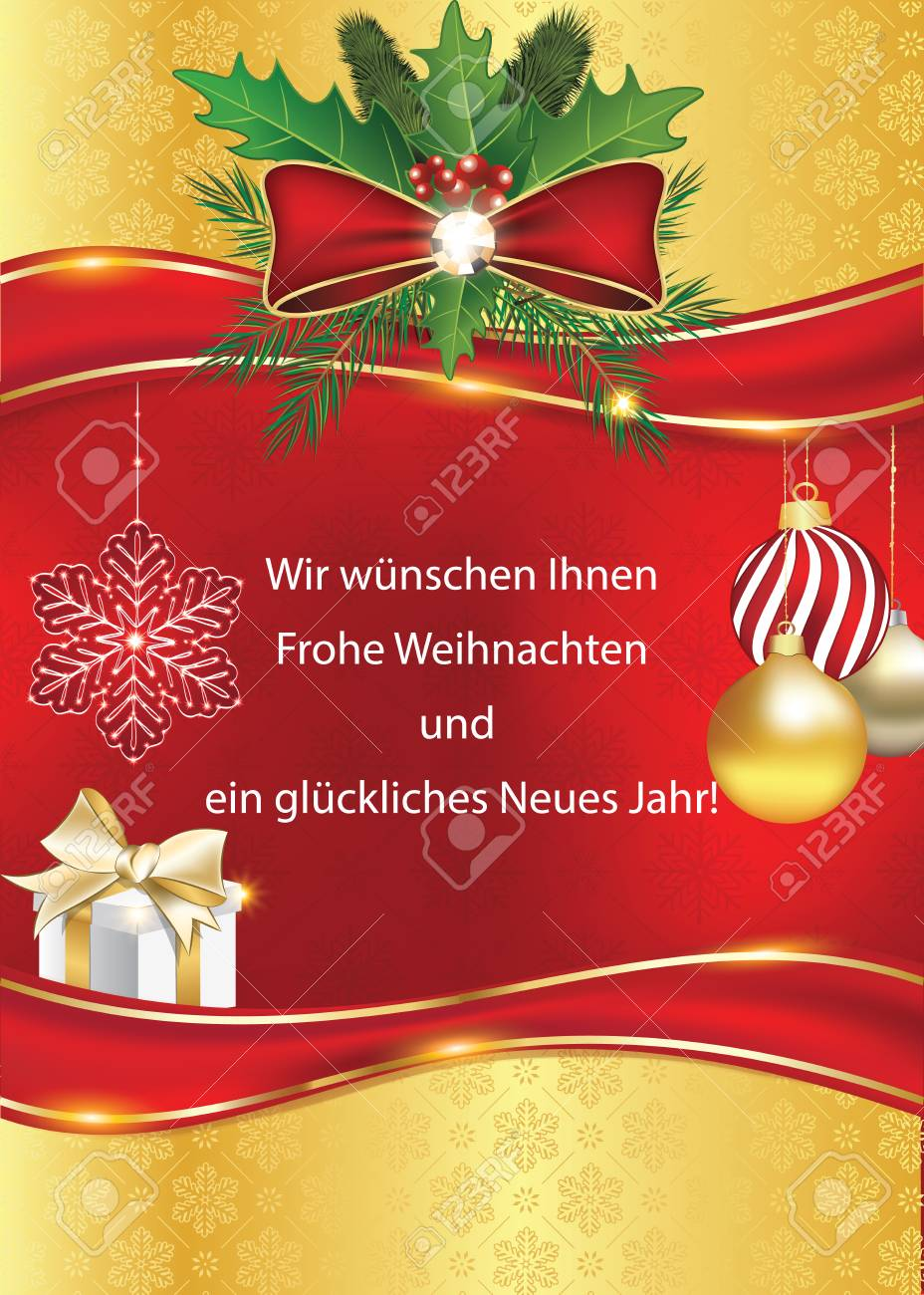 Greeting Card For The Year With Text In German Language We Wish