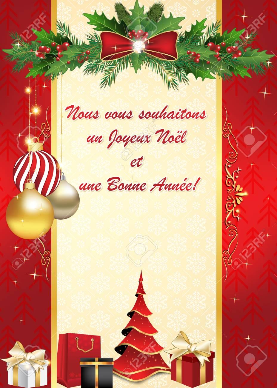 Wir Wünschen Euch Frohe Weihnachten Und Einen Guten Rutsch.Stock Photo