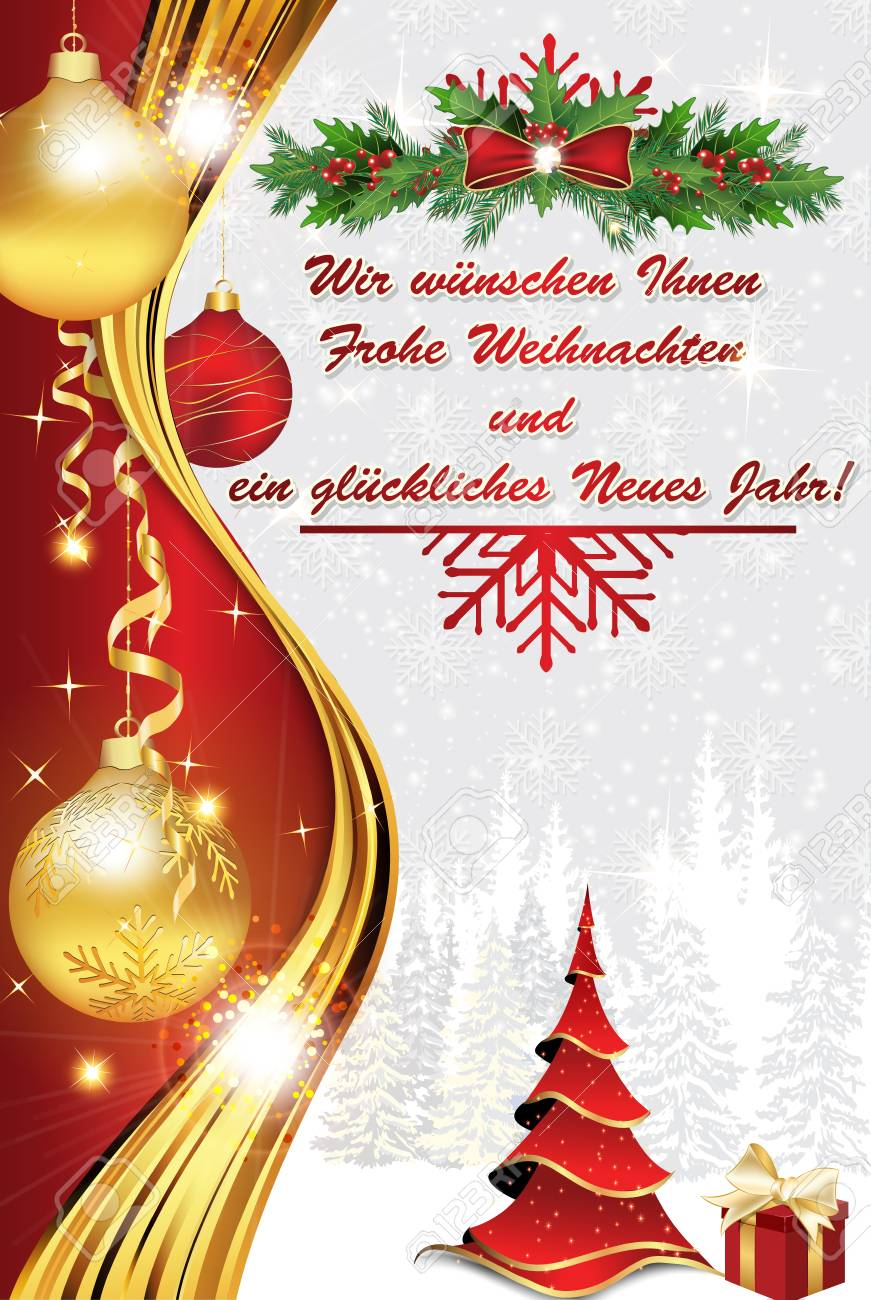 Allemand Des Affaires Nous Vous Souhaitons Joyeux Noël Et Bonne