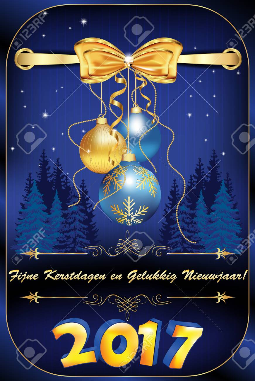 elegant dutch christmas new year 2017 greeting card merry christmas and happy new year