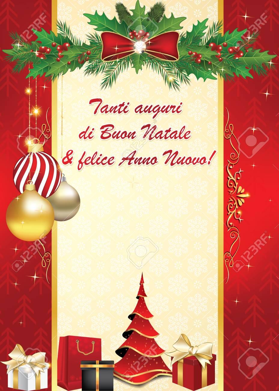 Carte De Voeux Italienne élégante Pour Les Vacances D'hiver. Nous