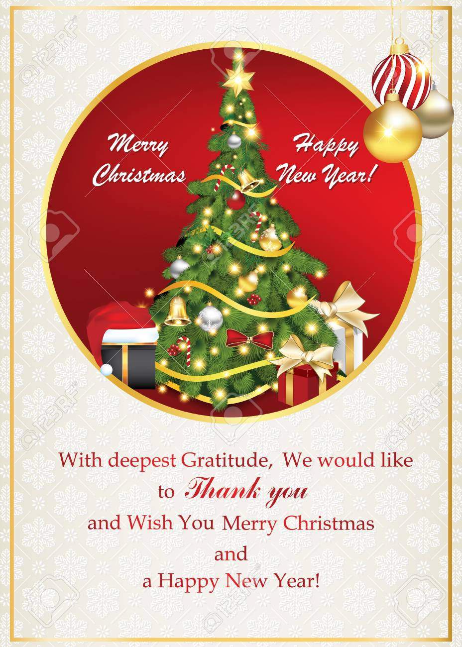 Merry Christmas Business Cards Long Topsimages