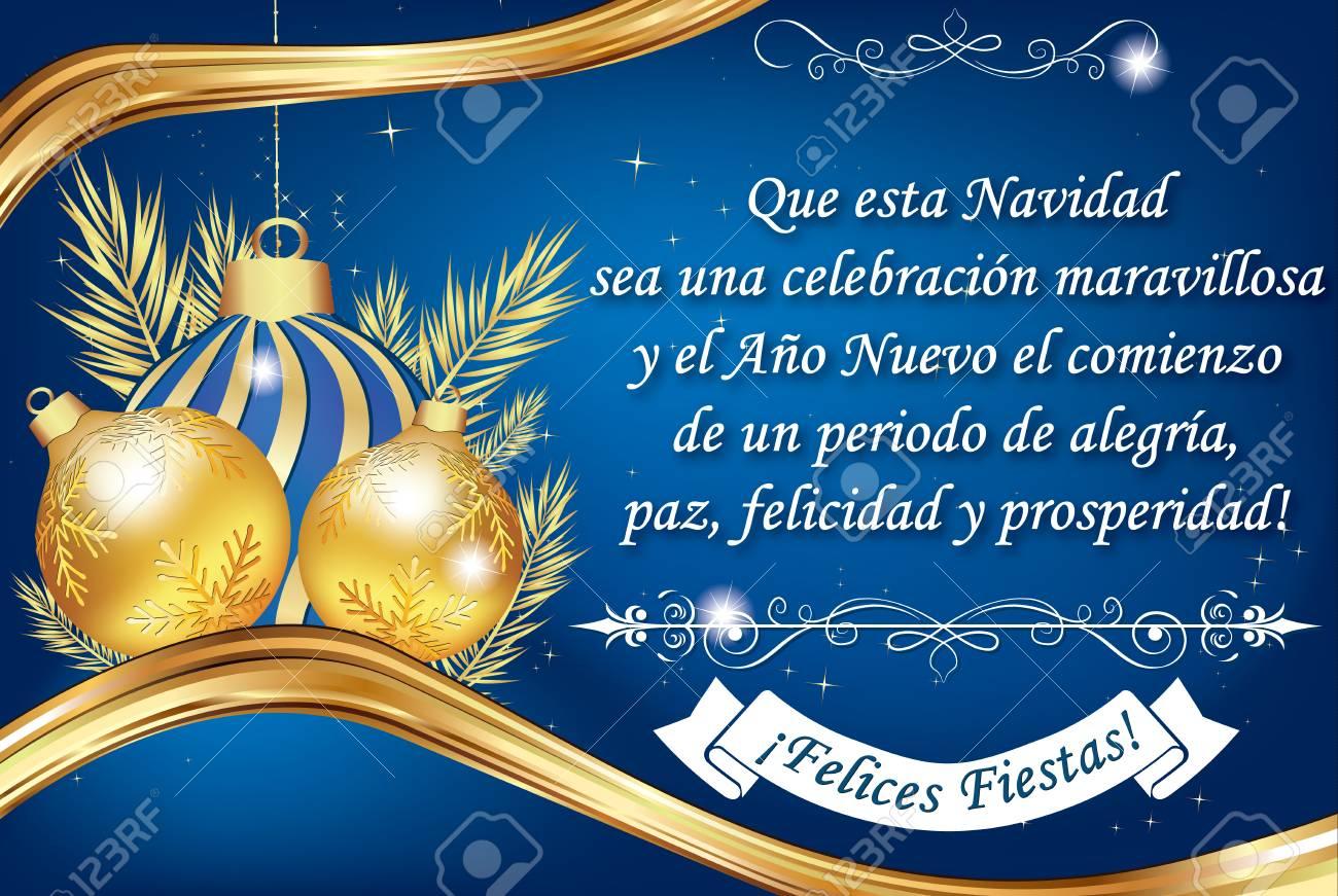 Buon Natale In Spagnolo.Immagini Stock Biglietto Di Auguri Di Affari Spagnolo Traduzione Di Testo Puo Questo Natale Essere Una Celebrazione Meravigliosa E Il Nuovo Anno L Inizio Di Un Periodo Di Gioia Pace Felicita E