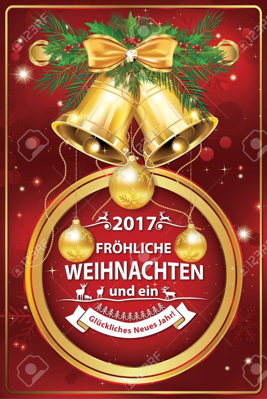 Elegant German Corporate Greeting Card For Winter Holiday 2017