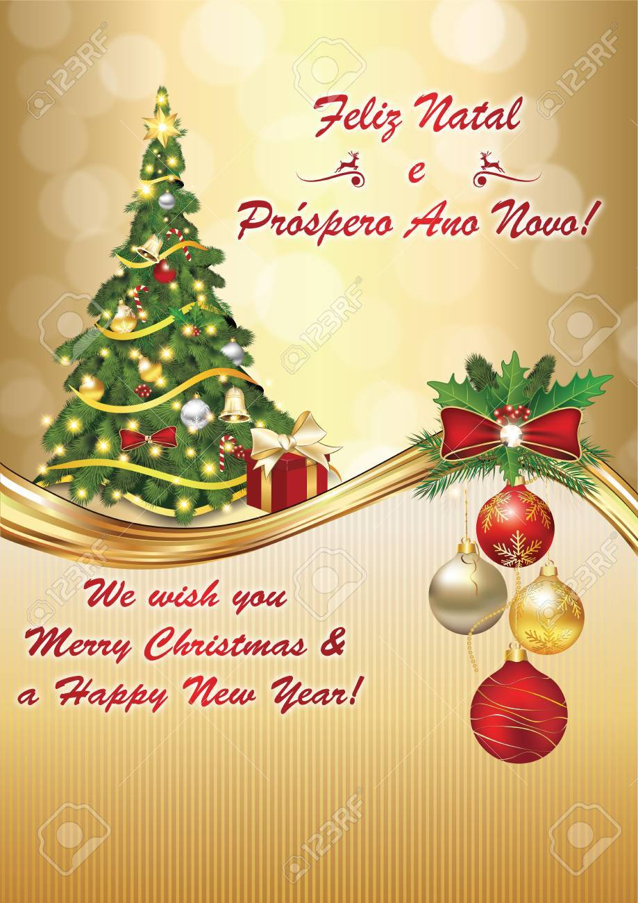 We Wish You Merry Christmas And Happy New Year - Portuguese Language ...