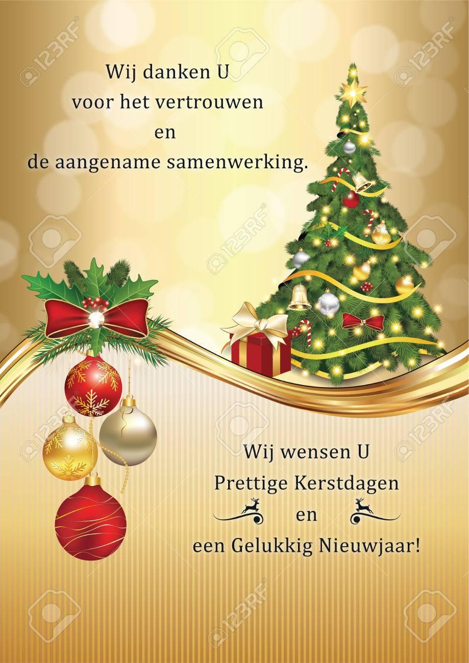 Business Dutch Greeting Card For Winter Holidays. Dutch Language ...