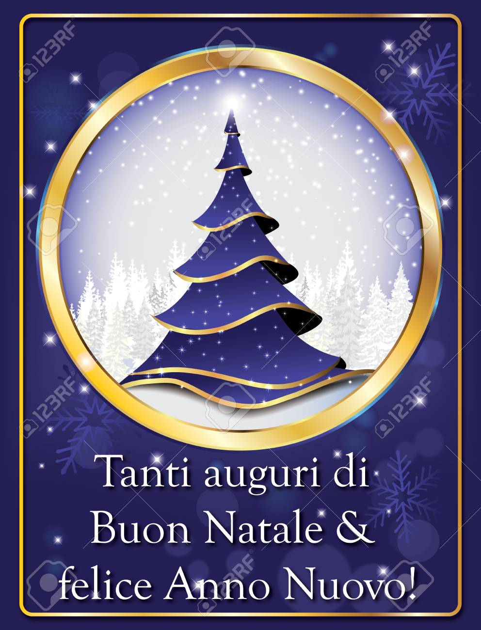 Auguri Di Buon Natale Merry Christmas.Italian Lovely Greeting Card For Winter Holiday Merry Christmas