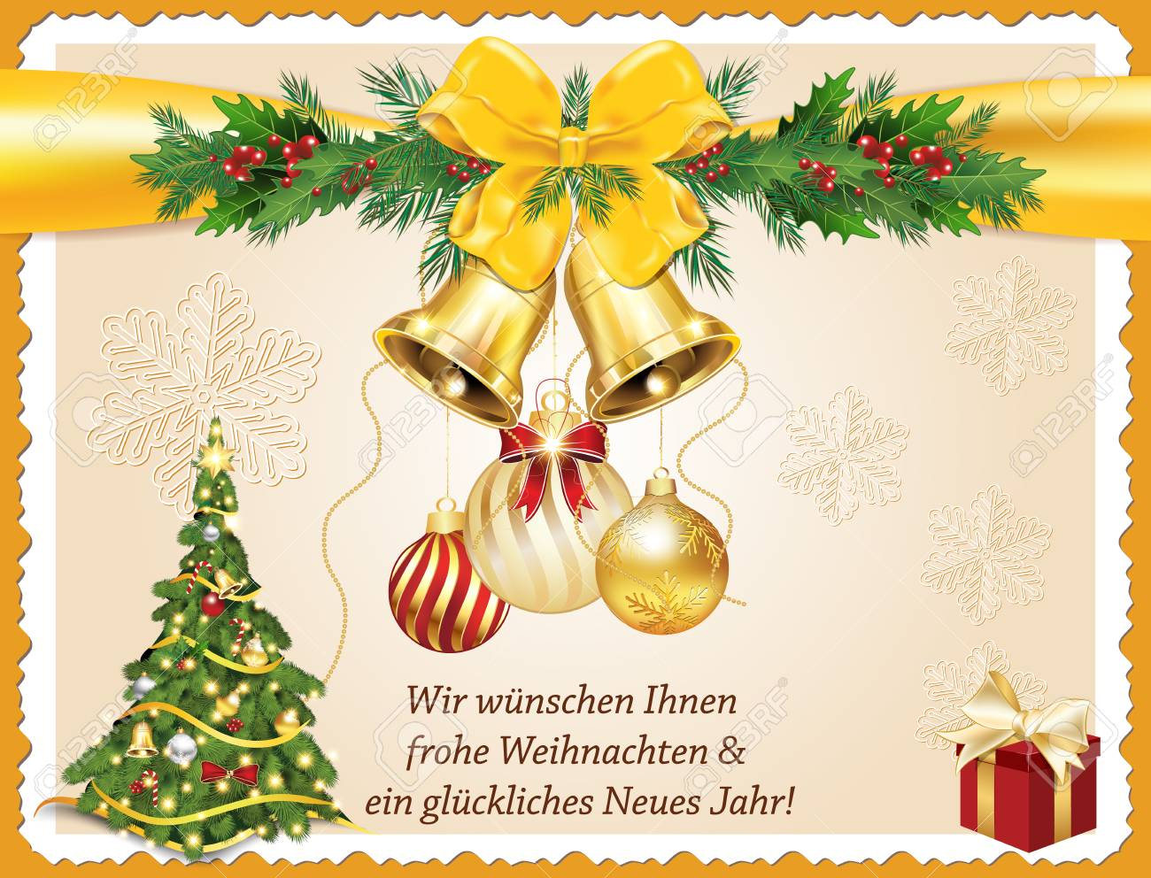 German Greeting Card For Christmas And New Year Merry Christmas