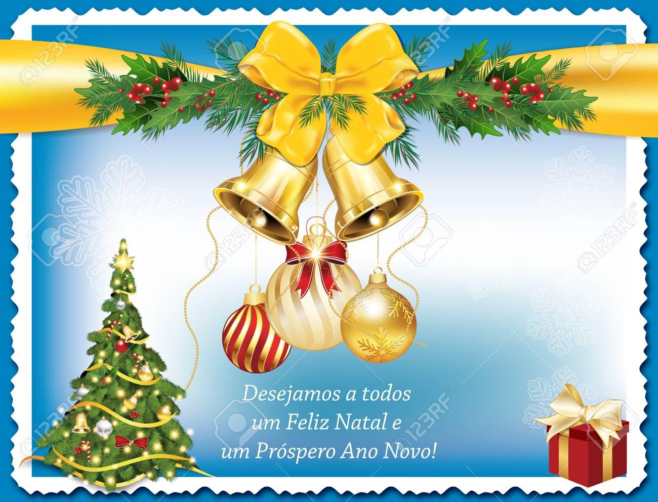 Ich Wünsche Euch Frohe Weihnachten Und Ein Gutes Neues Jahr.Stock Photo