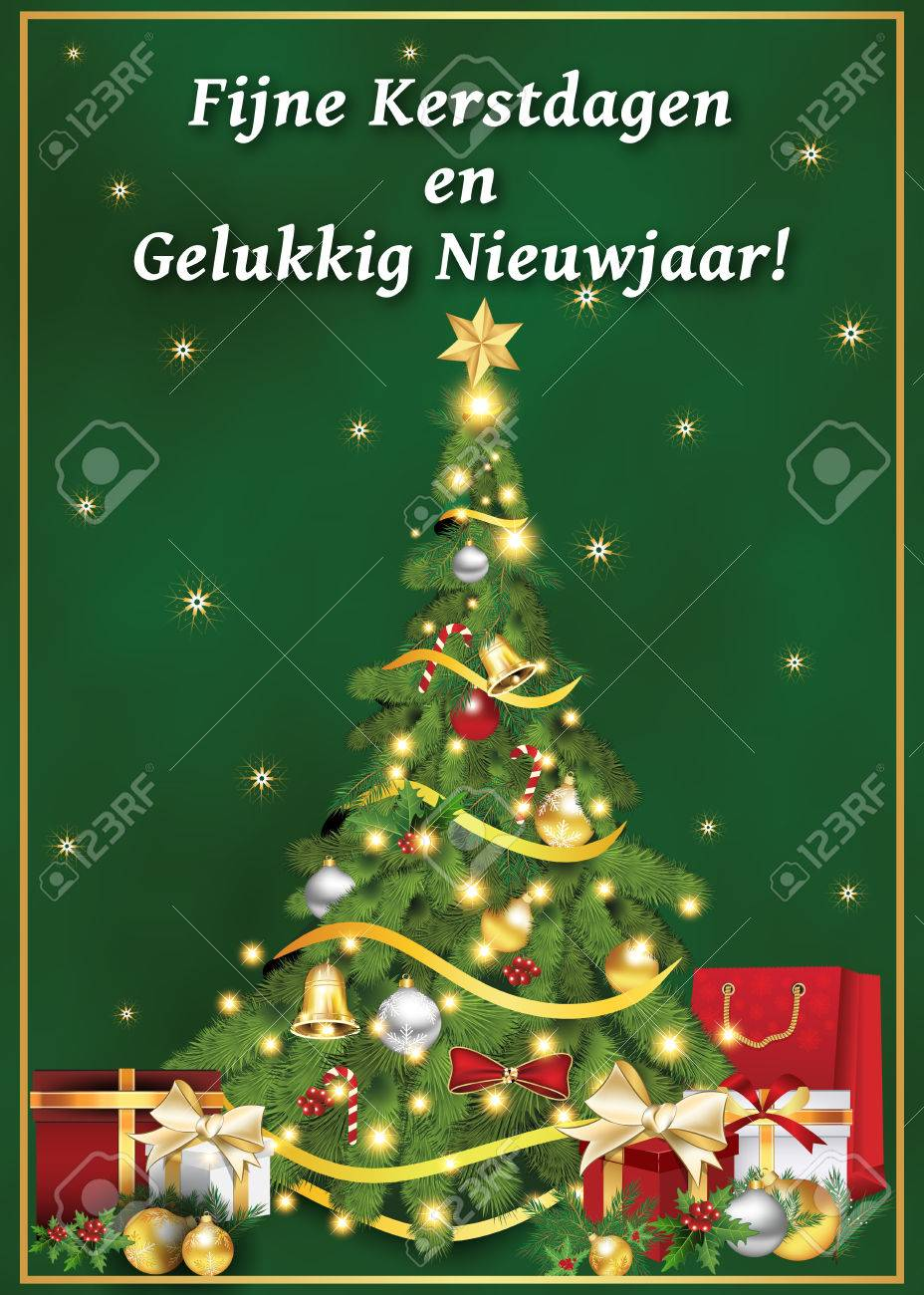 fijne kerstdagen en gelukkig nieuwjaar dutch language merry christmas and happy new year