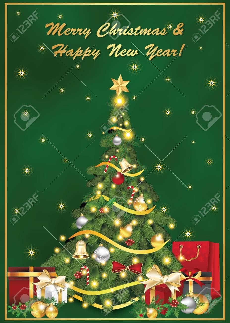 Felicitacion Navidad Personalizada Fotos.Tarjeta De Felicitacion Elegante De Navidad Y Ano Nuevo Vacaciones De Invierno Imprimir Colores Utilizados Tamano De Una Tarjeta De Felicitacion
