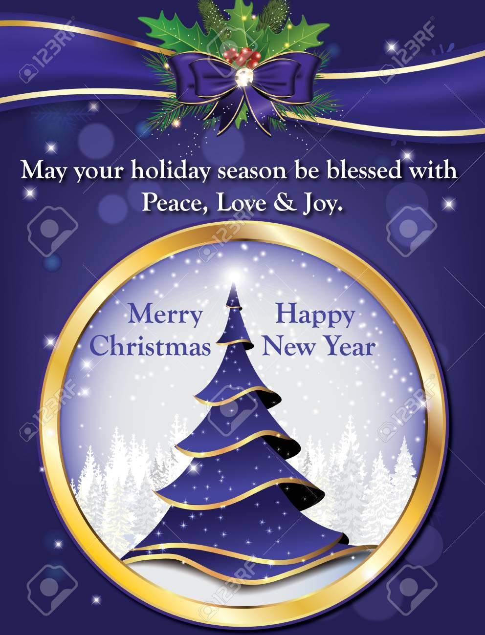 Möge Deine Weihnachtszeit Mit Frieden, Liebe Und Freude Gesegnet ...
