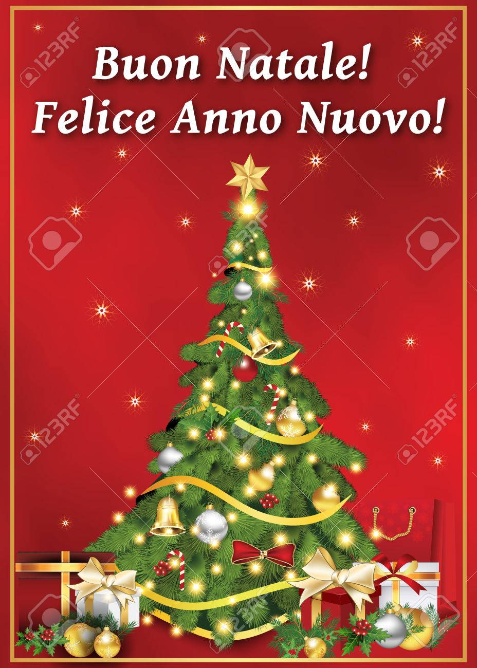 Buon Natale Wishes Italian.Buon Natale Felice Anno Nuovo Italian Greeting Card For Winter Stock Photo Picture And Royalty Free Image Image 67598063
