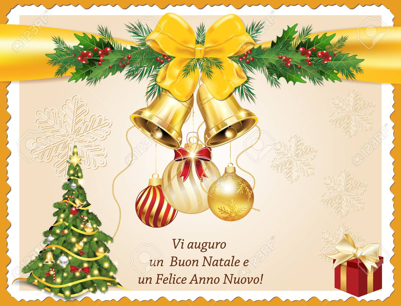 italian seasons greeting for winter holidays we wish you merry christmas and happy new year printable greeting