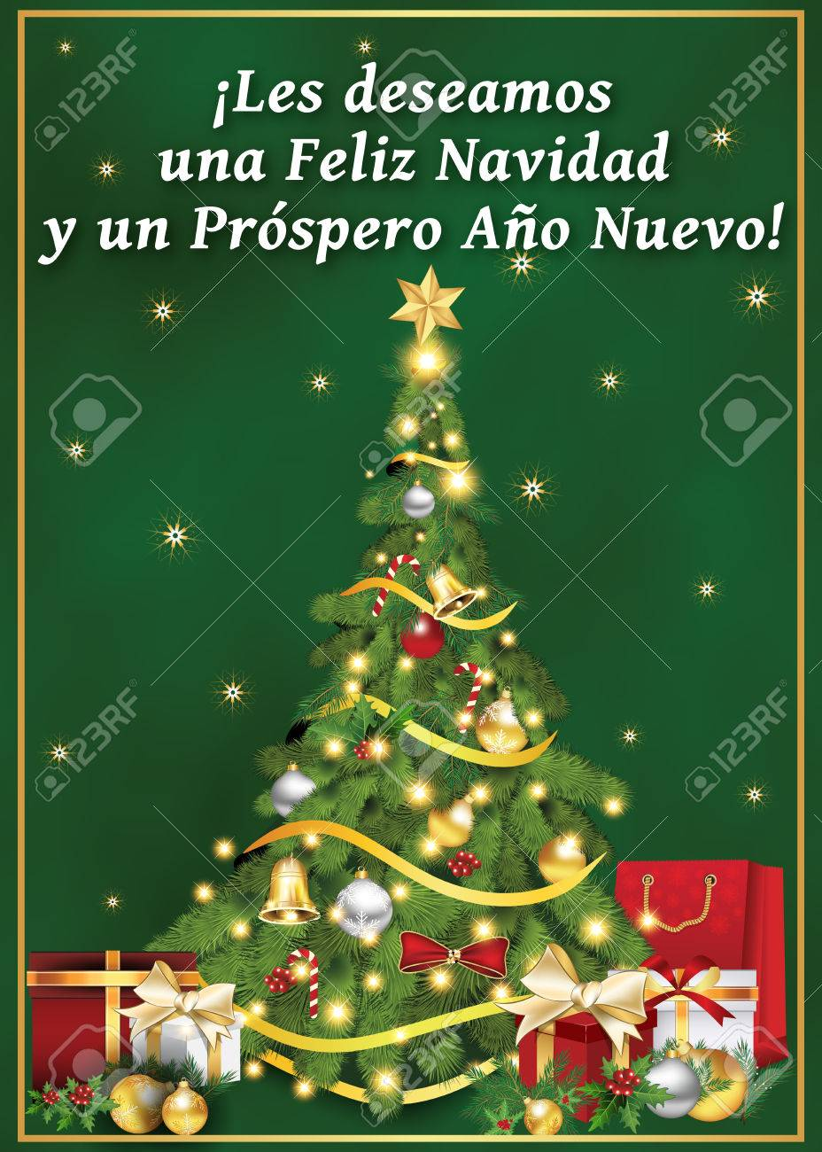 Spanish business greeting card for winter holiday text spanish business greeting card for winter holiday text translation we wish you merry christmas magicingreecefo Gallery