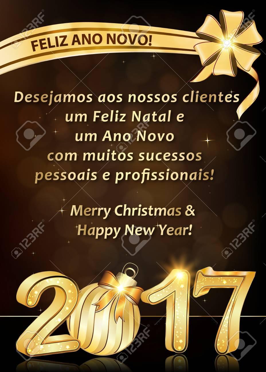 Portugiesisch-Grußkarte Für Winterferien. Wir Wünschen Allen Unseren ...