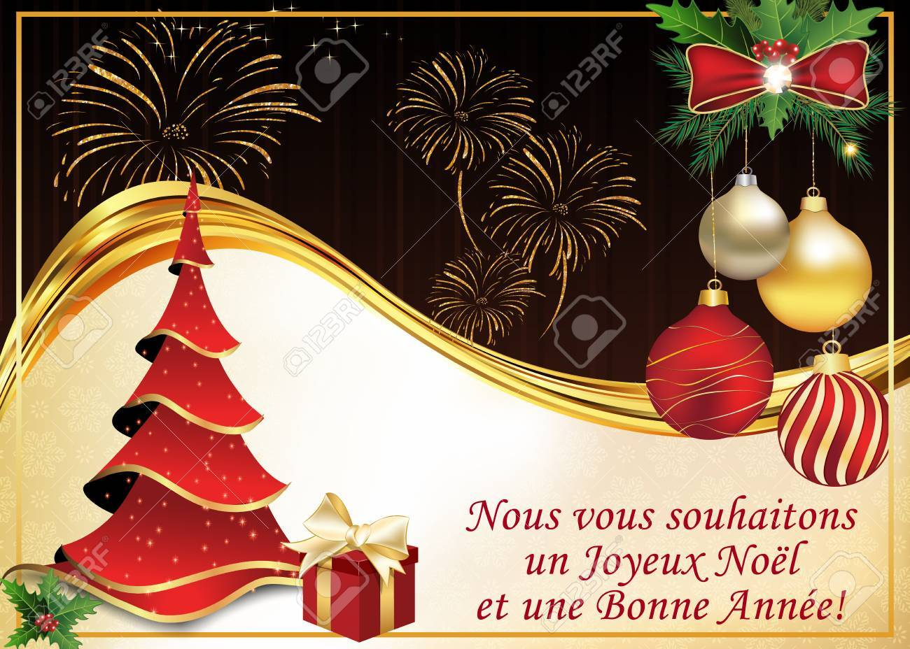 French greeting card we wish you merry christmas and happy new french greeting card we wish you merry christmas and happy new year nous m4hsunfo