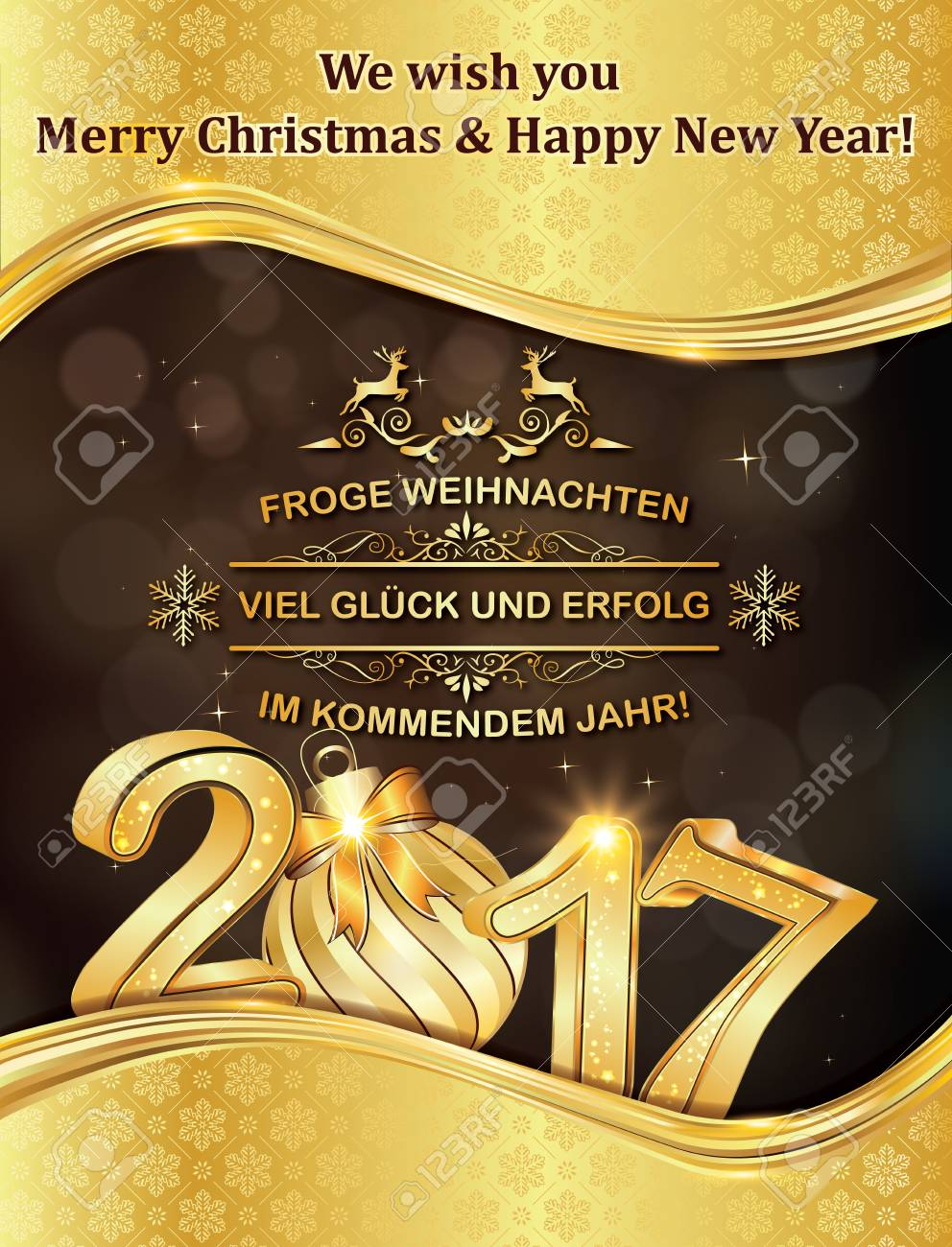 German greeting card merry christmas and happy new year frohe german greeting card merry christmas and happy new year frohe weihnachten und ein gluckliches m4hsunfo