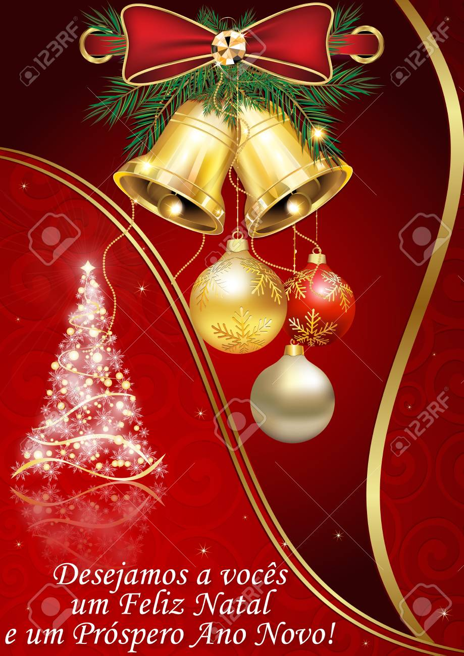 stock photo wishing everyone merry christmas and a happy new year spanish greeting card