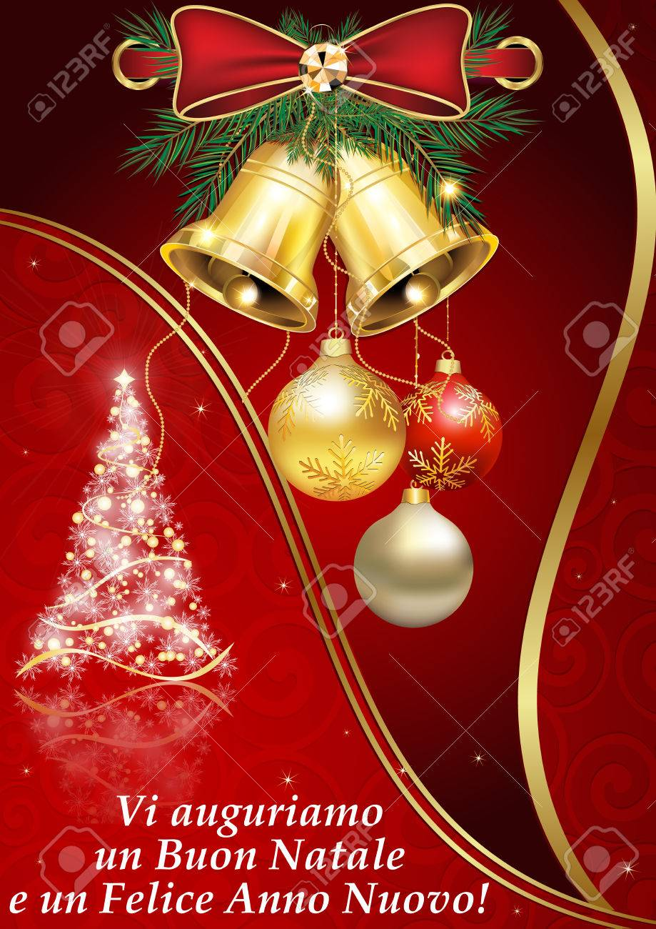 Buon Natale Wishes Italian.We Wish You Merry Christmas And A Happy New Year Italian Language Stock Photo Picture And Royalty Free Image Image 68172352