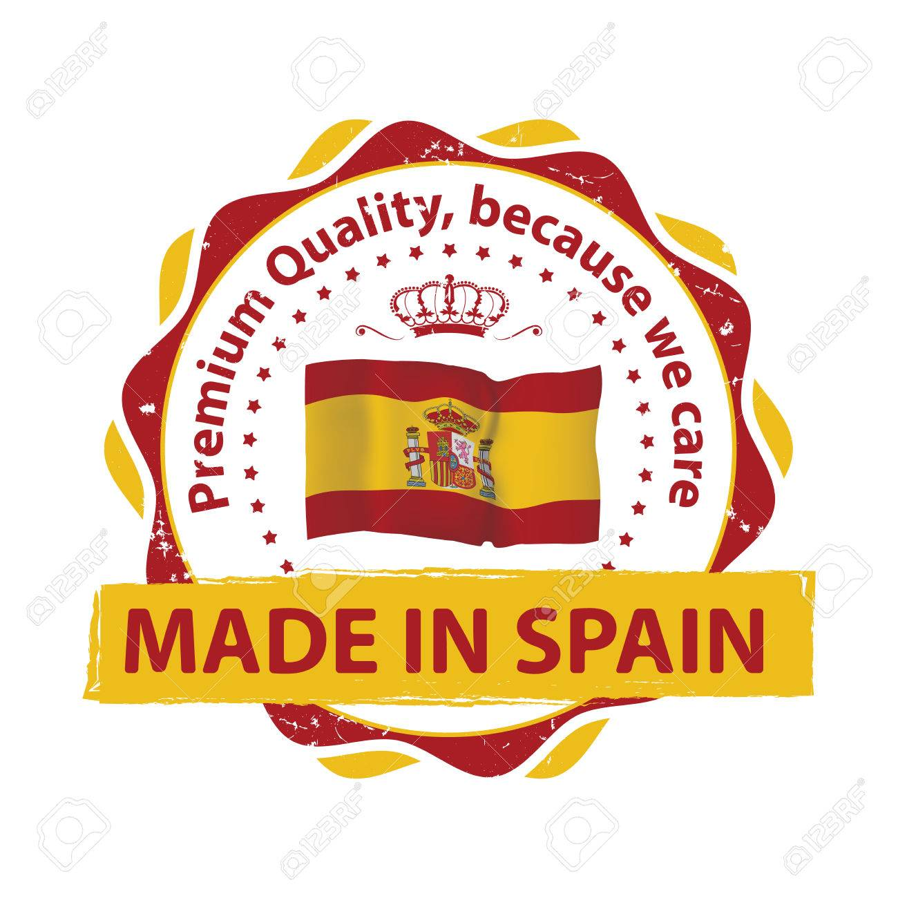 photograph regarding Printable Spanish Flag referred to as Created within Spain, High quality High-quality, considering the fact that we treatment - grunge printable..
