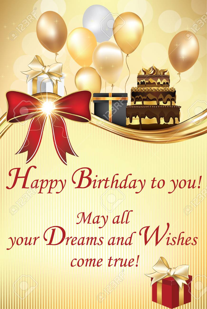 Awesome Birthday Greeting Card May All Your Dreams And Wishes Come Personalised Birthday Cards Bromeletsinfo
