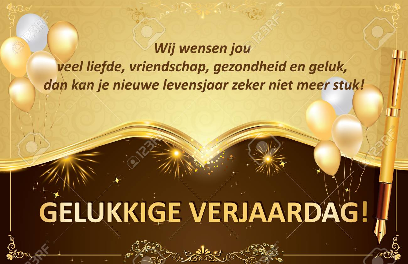 Dutch Birthday Greeting Card For Friends Colleagues And Boss