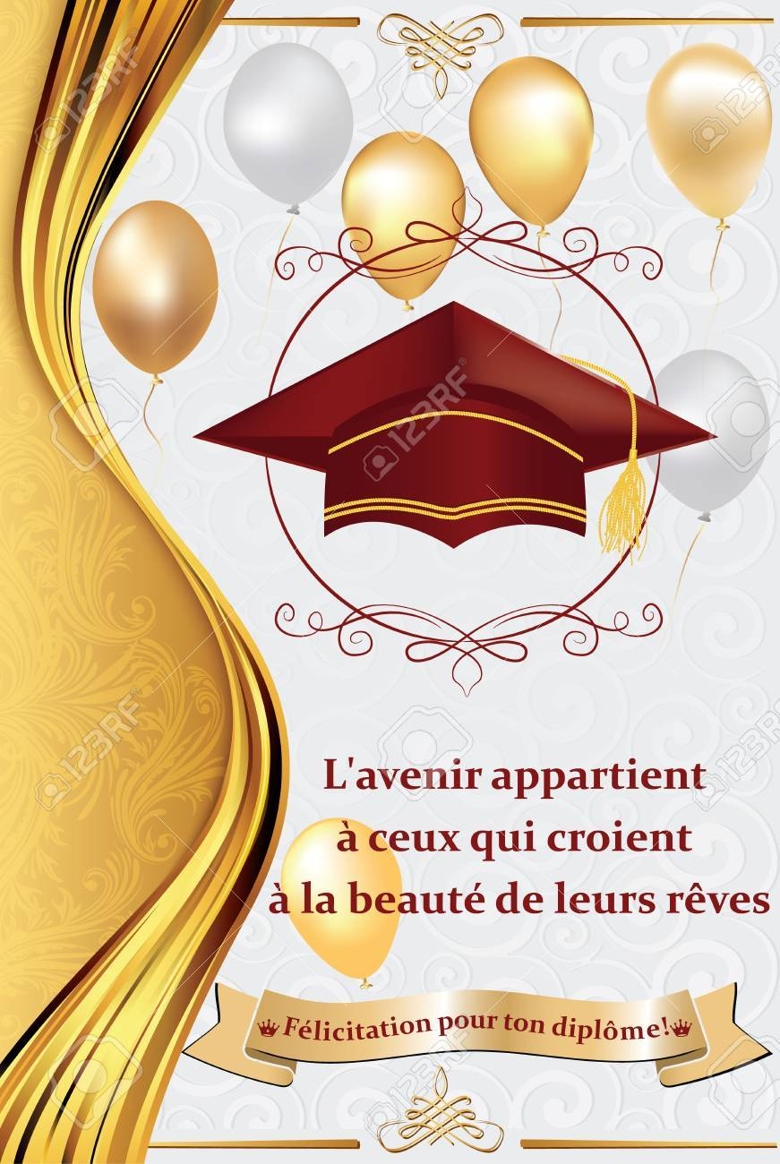 french graduation greeting card congratulations on your graduations