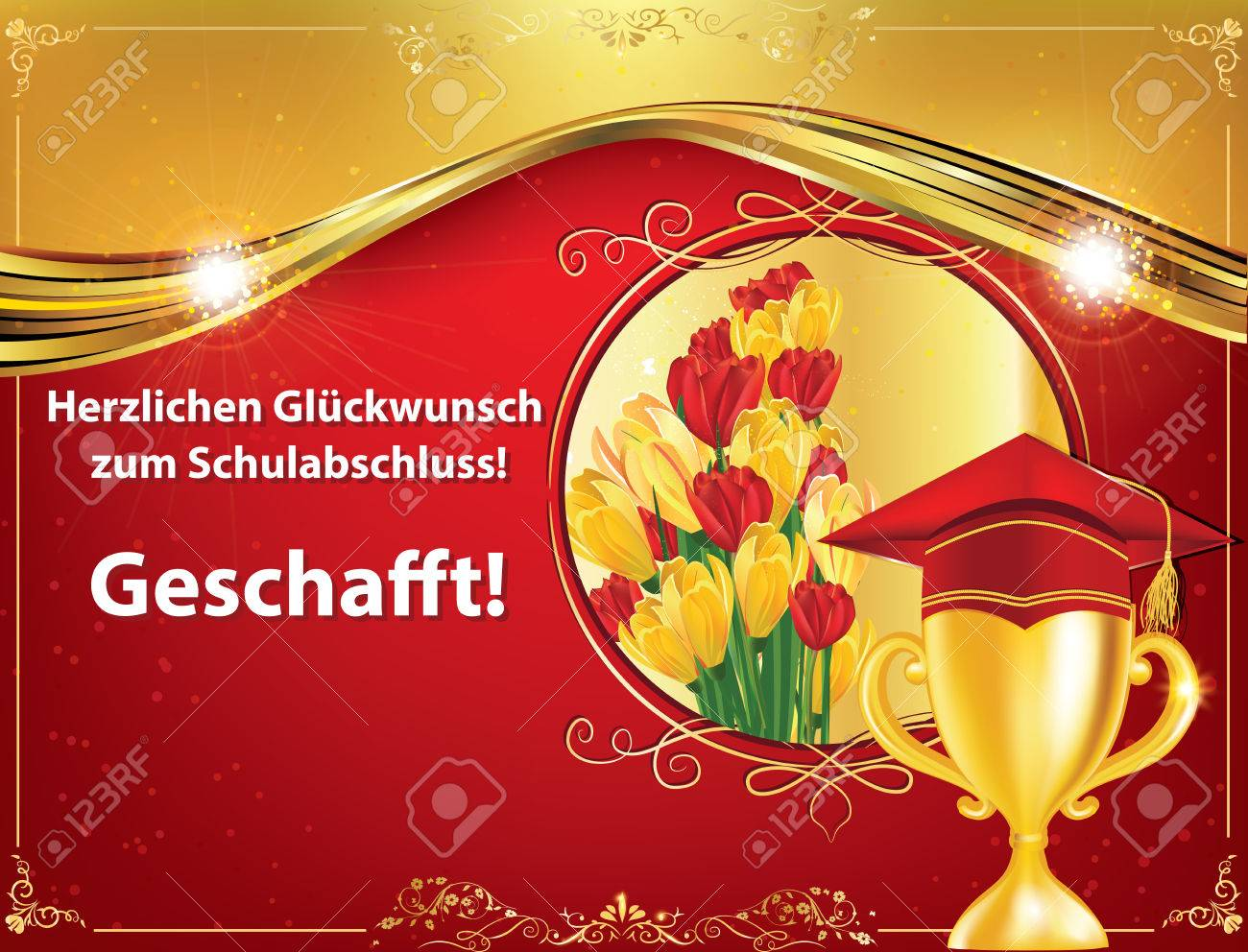 german graduation greeting card congratulations on your graduations you did it herzlichen